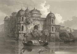 Mosque on the Booragunga branch of the Ganges